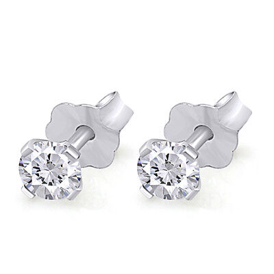 Mother's Day3/4 Cttw Diamond Stud Earrings Available In 14K White& Yellow Gold