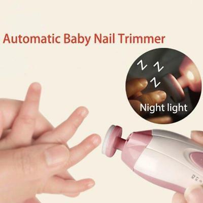 Baby Automatic Nail Trimmer Safe Baby Nail Clippers Set Painless Kit Tool hyds