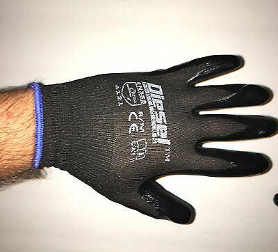 (12 Pair) Diesel Pro-Tekk Gloves Nitrile General Purpose Glove