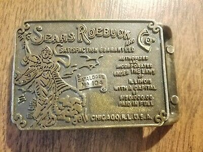 VINTAGE 1970s **SEARS ROEBUCK AND CO.** ADVERTISEMENT BELT BUCKLE