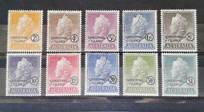 1958 CHRISTMAS ISLAND QEII 2 full set of 10 CTO stamps very nice LQQK!