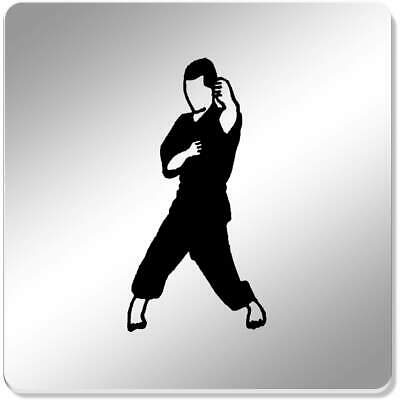 6 x 'Karate Pose' 95mm Mirror Coasters (CR00120710)