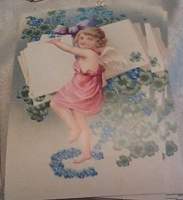 Lot Of (5) Five Victorian Angel Fairy Postcards Creative Horizons 1997 See Pics.