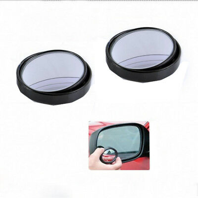 AU 2* Car Rearview Mirror Small Round Blind Spot Mirror 360° Rotating Wide Sight