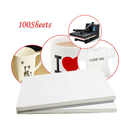 *US* 100 Sheets A4 Dye Sublimation Heat Transfer Paper for Mug Cup Plate T-Shirt