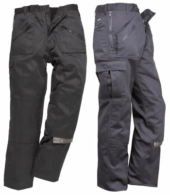 Portwest Action Work Trouser Navy T887 Knee Pad Inserts Zip Pockets