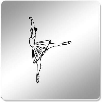 6 x 'Arabesque Pose Ballet' 95mm Mirror Coasters (CR00098488)