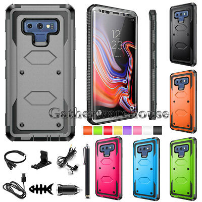 For Samsung Galaxy Note 9 8 5 Rugged Silicone Rubber Shockproof Armor Case Cover