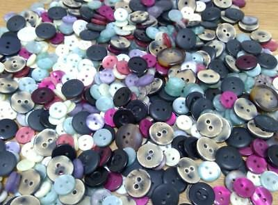Buttons 200g Job Lot Bag Of Mixed Sizes Colours - CRAFT BUTTON ART REPAIR TOYS