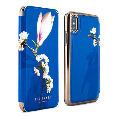 74c0a1d278c048 TED BAKER® LUXURY Protective Floral Mirror Folio Case Cover iPhone X XS  HARMONY