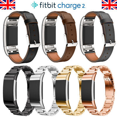 For Fitbit Charge 2  Watch Strap Wrist Band Stainless Steel Classic & Leather UK