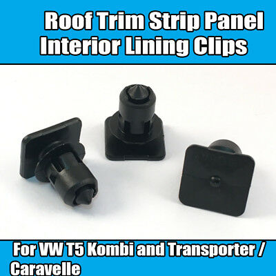 20x Clips For VW T5 Transporter Bus Roof Trim Strip Panel Interior Lining Clips