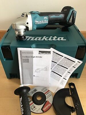 Makita DGA506ZJ DGA506Z 18v 125mm Brushless Angle Grinder with Carry Case