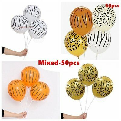 10Pcs 12 Inch Jungle Animal Print Balloons Birthday Party Wedding Decoration NP