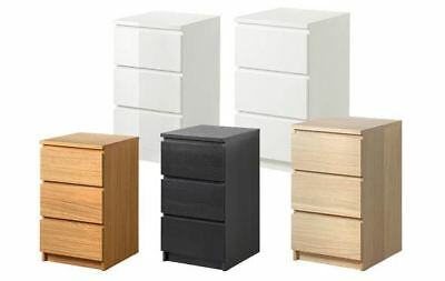 IKEA MALM DRAWERS FURNITURE CHEST OF 3 DRAWERS 80x78cm BRANDNEW!!