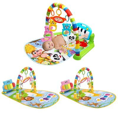 Baby Play Mat Toddler Gym Blanket Piano Pedal Fitness Frame Toy with Music GQ