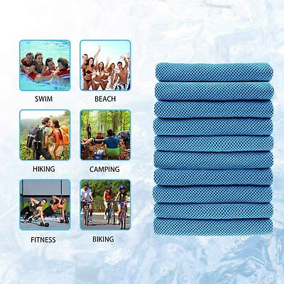 Instant Cooling Towel Reusable Chill Cool Sports Running Jogging Gym Towel NEW