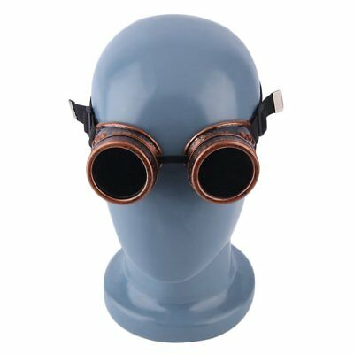 Vintage Victorian Steampunk Goggles Glasses Welding Cyber Steam Gothic WV