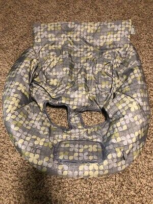 Summer Infant Cushy Shopping Cart Gray Green Cover