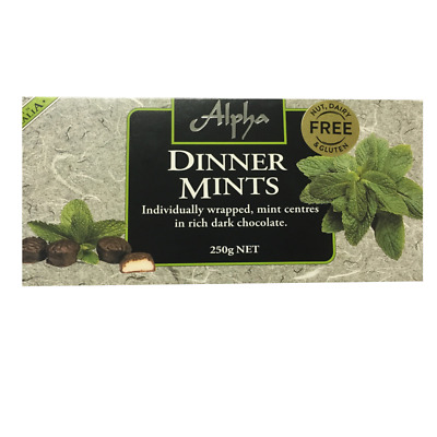 Alpha Chocolate Dinner Mints Gift Box 250gm
