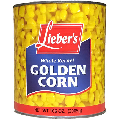 Liebers Whole Kernel Golden Corn 3Kg