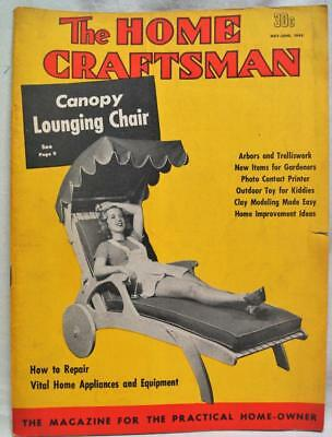 The Home Craftsman Magazine May June 1945 Vintage Woodworking Hobbies