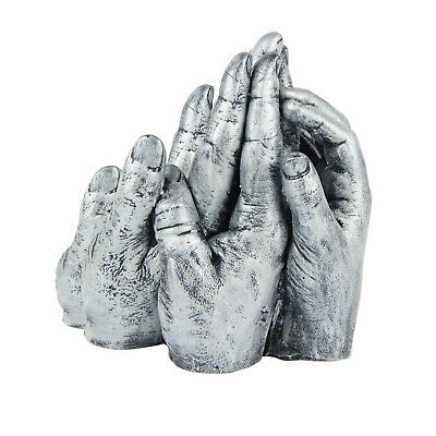 BabyRice Family Hand Cast Kit - Metallic Silver | Family Keepsake | Family Gift