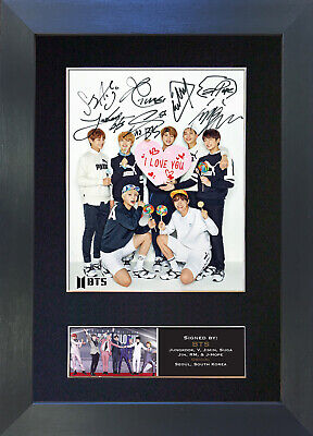 BTS No3 Signed Mounted Autograph Photo Prints A4 761