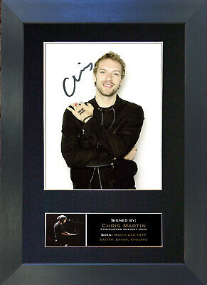 CHRIS MARTIN Coldplay Signed Mounted Autograph Photo Prints A4 748