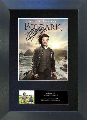 POLDARK Aiden Turner Signed Mounted Autograph Photo Prints A4 741