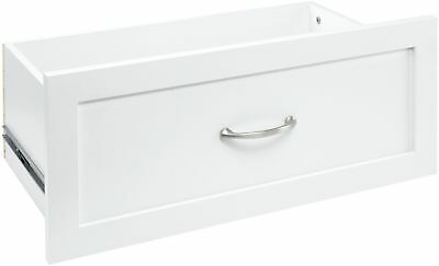 ClosetMaid Drawer 10 In. H Raised Panel Style Full Extension Metal Glides  White