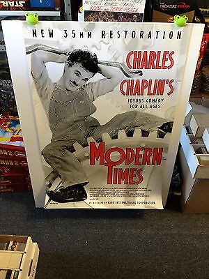 MODERN TIMES Movie Poster One Sheet  **Charles Chaplin Re-Release