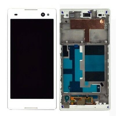 LCD Display+Touch Panel with Frame Replacement for Sony Xperia C3/D2533 White