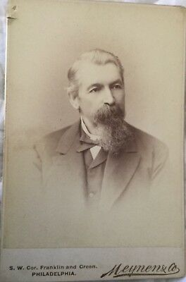 Celebrity look alike rare antique cabinet card photo, Victorian Tom Selleck!