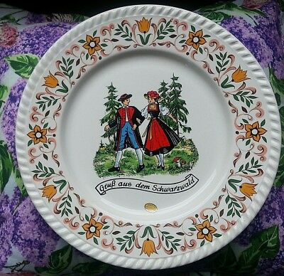 Vintage Made west germany Plate Black Forest Souvenir Collectible German Sticker