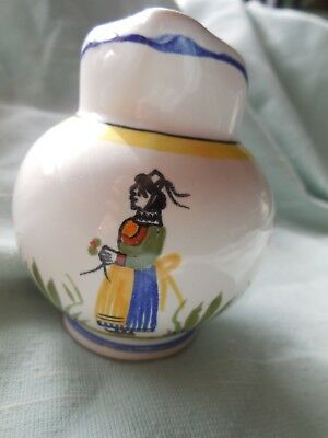 Henriot Quimper France Cream Jug - Lady Henriot Pattern
