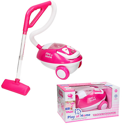 Girls Play At Home Electronic Vacuum Cleaner Play Light & Sound Toy Xmas Gift