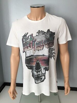19abadee59866 Just Cavalli Mens White Short Sleeve Round Neck T Shirt Size Large Skull  Print