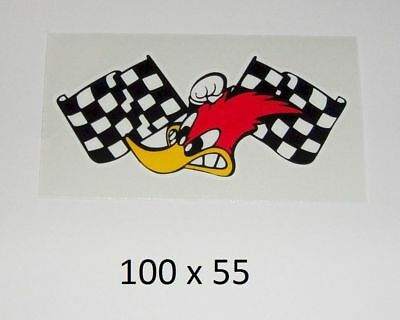 Woody Woodpecker Aufkleber - Sticker MotoGP USA US Cars Hotrod mr horsepower