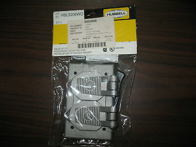 New Hubbell Hbl5206wo Weatherproof Duplex Receptacle Cover 14 00