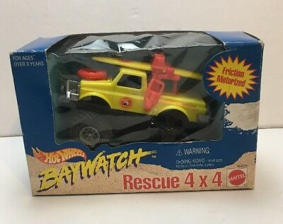 VINTAGE 1995 Hot Wheels Baywatch Lifeguard Rescue Vehicle.  Unopened