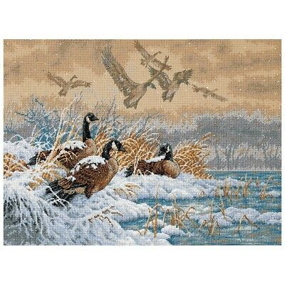 "DIMENSIONS GOLD COLLECTIONS""WINTER RETREAT""CROSS STITCH KIT  Kreuzstich-Stickpac"