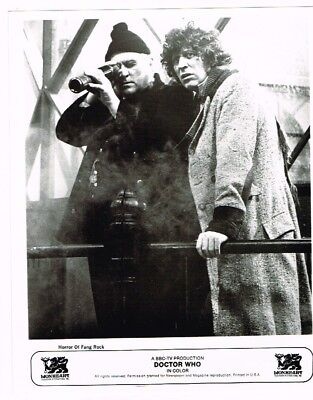 Horror of Fang Rock Fourth Dr and Rutan Dr Who 8X10 B&W Vintage Photograph