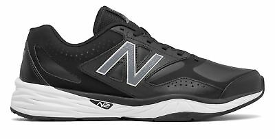 New Balance Men's 824 Trainer Shoes Black with Silver
