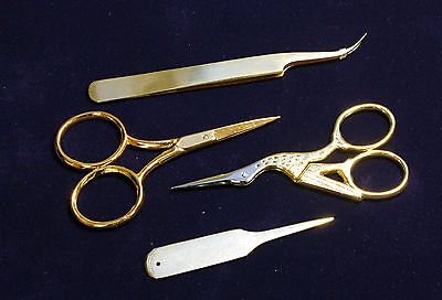 Goldwork Embroidery Tools, Set Of 4, Set Of 3, Or Individually, Quality Items