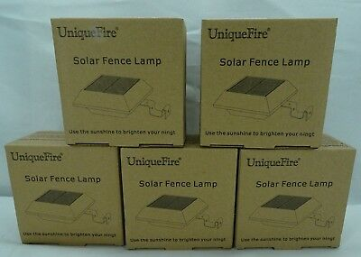 UniqueFire Black 5 LEDs Solar Lights Garden Lights Outdoor Fence Lights T2