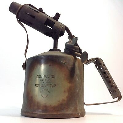 Vintage Brass Blow Torch COMPANION Rustic Display
