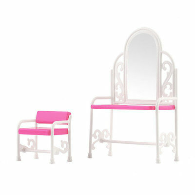 Dressing Table & Chair Accessories Set For Barbies Dolls Bedroom Furniture VJ