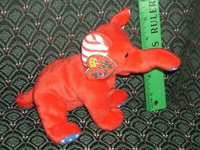 "Ty Righty The 2.0 Beanie Elephant - 8"" Long - Unused Code- 2007 -Mwmt"