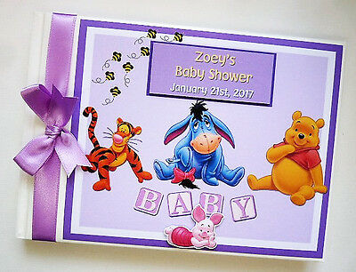 Disney Winnie The Pooh And Friends Birthday / Baby Shower Guest Book